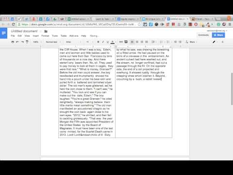 Multiple Columns in Google Docs