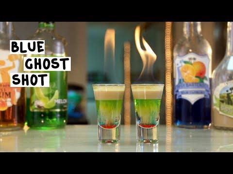 Blue Ghost Shot - Tipsy Bartender