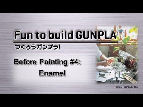 Fun to build GUNPLA - Before Painting #4: Enamel