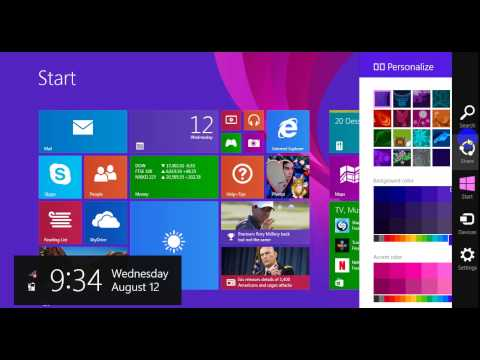 Change  Color  in windows  8 1