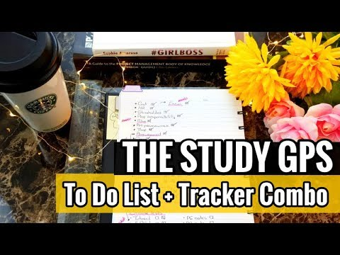 The Study GPS | Combining To Do Lists & Progress Trackers