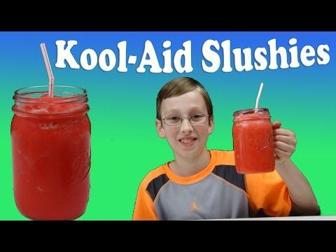 How To Make A Kool-Aid Ice Cream Slushie  | CollinTV