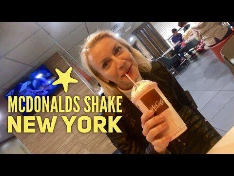 Mcdonald's Strawberry Shake New York & 10 Piece Chicken Nuggets