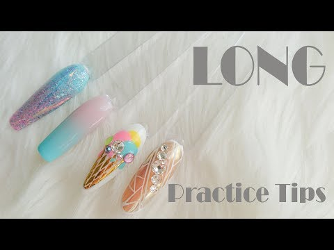 Long Practice Nail Tips! How to by Goda ❤