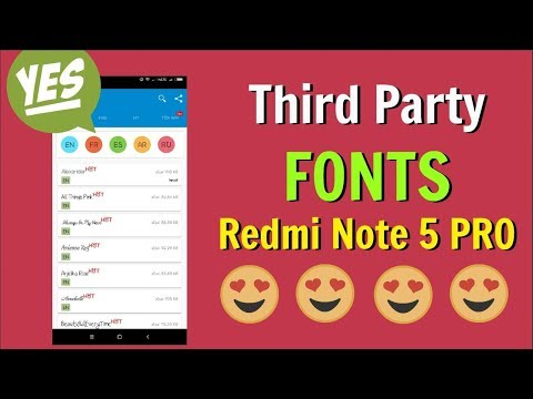 Install Third Party Fonts on Redmi Note 5 Pro MIUI 9 [NO ROOT]