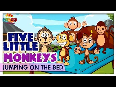 Five Little Monkeys Jumping On The Bed - Learn Children Nursery Rhyme - Kids Carnival