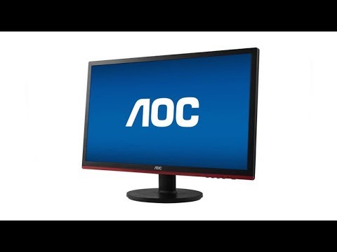 How To Setup AOC Gaming Monitor [1080p] [Full Install] [HD]
