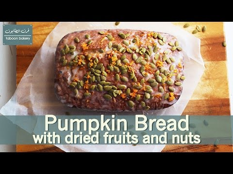 Pumpkin Bread with dried fruits and nuts