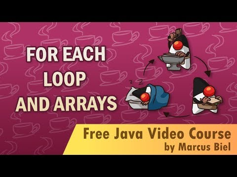 Java for Beginners 9 - for each loop and arrays