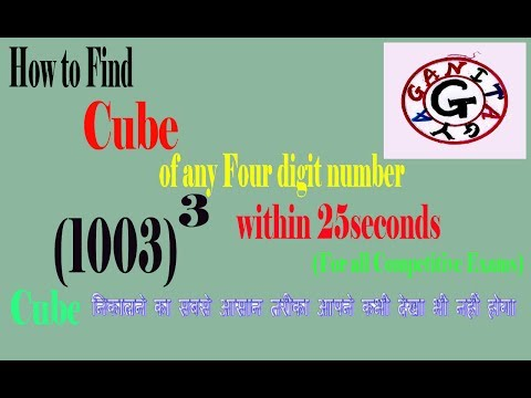 How to find cube of any 4-digit numbers (the best shortcut- for all competitive exams)