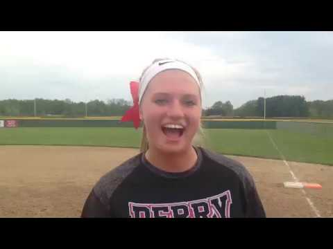 Emalee Sines of Perry describes her game-clinching play at third