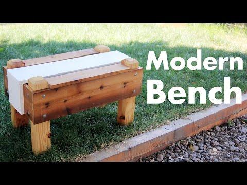 Building a Modern Outdoor Bench
