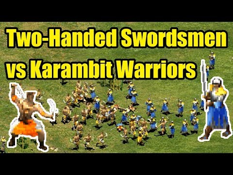 Two-Handed Swordsmen vs Karambit Warriors