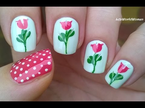 TOOTHPICK NAIL ART #12 - Drag Marble Flower Nails
