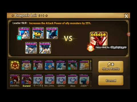 Dragon B10 With Magic Knight (Water) - Lapis [Summoners War Sky Arena]