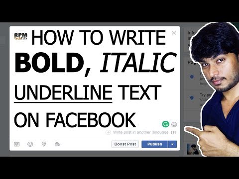 How to use Bold Text on Facebook Post 2018
