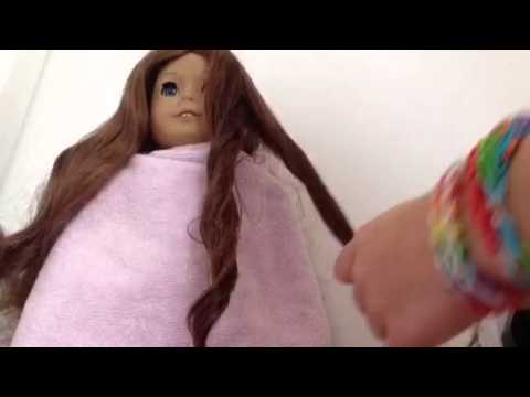 How to curl your ag dolls hair without a hair curler (easy)