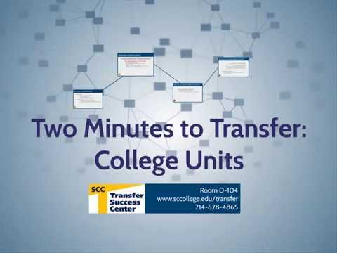 Two Minutes to Transfer: College Units