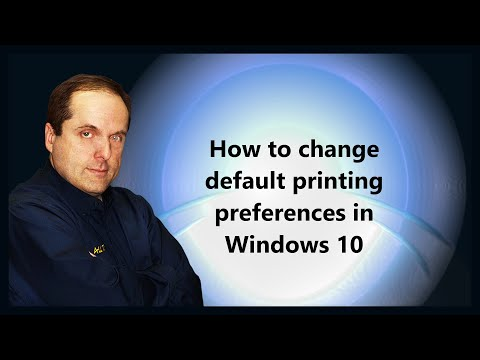 How to change default printing preferences in Windows 10