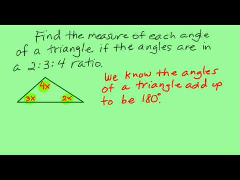 Finding triangle angles in a 2:3:4 ratio