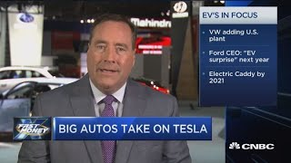 Download Tesla competition heats up as big autos roll out electric car plans Video