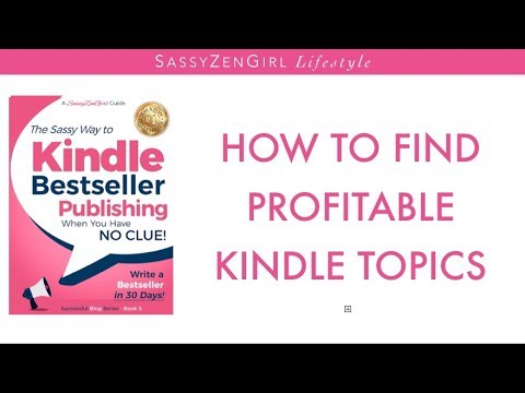 How to find Profitable Topics in Kindle Publishing - in just a few Minutes!