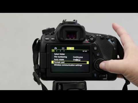 How to Format the SD Card on a Canon 80D