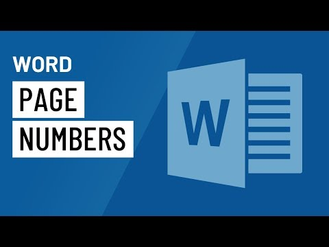Word 2016: Page Numbers