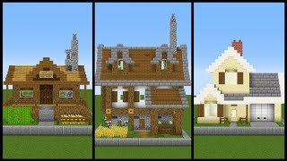 5 Simple ONE CHUNK Minecraft House Designs