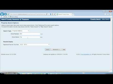 Property search using the online property database portal