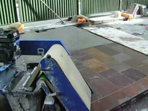 Grouting paving using tufftop jointing mortar - step 4 - cleaning