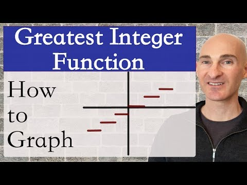 Greatest Integer Function How to Graph