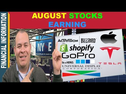 August Stocks Earnings📈🤑  | Apple Shopify Square Tesla Activision Blizzard OLED GoPro
