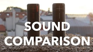 UE Boom 2 vs UE Boom Sound Comparison Outdoor