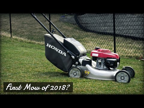 First Lawn Mowing of 2018?