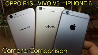 Vivo V5 vs Oppo F1s vs iPhone 6 Camera Comparison