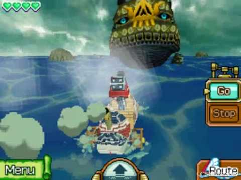 The Legend of Zelda Phantom Hourglass Walkthrough -The Cannon & the Ghost Ship- Part 9