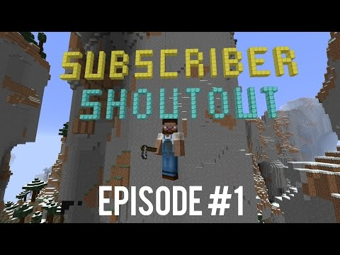Shout Out Series Minecraft - Shout Out Every Episode - Shout Out Garden #001