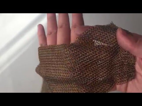 Decorative effect of chainmail armor