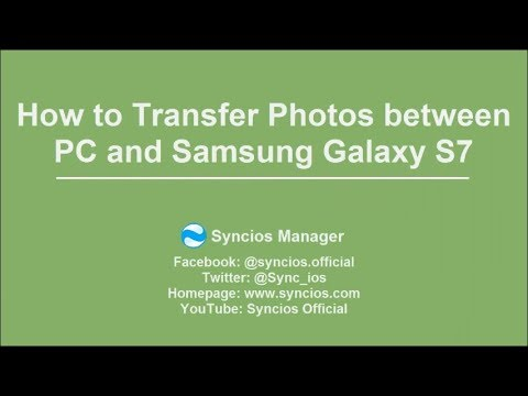 How to Transfer Photos between Computer and Samsung Galaxy S7/ S7 Edge