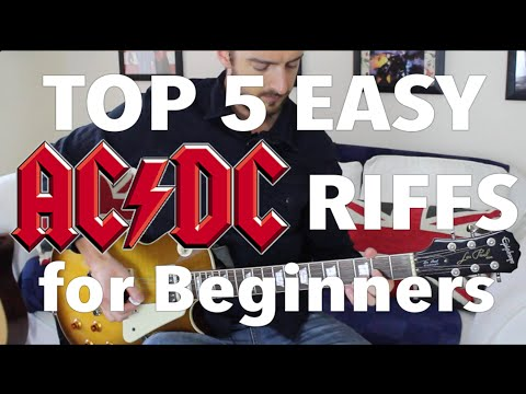 5 EASY AC/DC Songs for Beginner Guitar