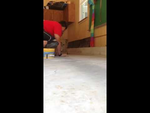 Raising a garage floor