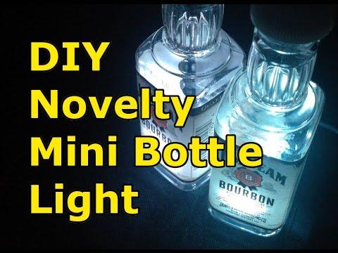 DIY How to make Novelty Mini Bottle Light, USB LED
