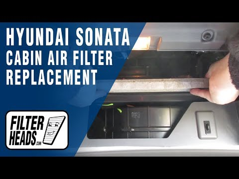 How to Replace Cabin Air Filter 2013 Hyundai Sonata