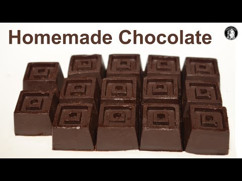 Homemade Chocolate Recipe With 3 Ingredients - How to make Chocolate Recipe by Kitchen With Amna