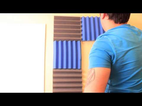 How to Setup Acoustic Foam - Get Rid of Echo and Reverb In a Room