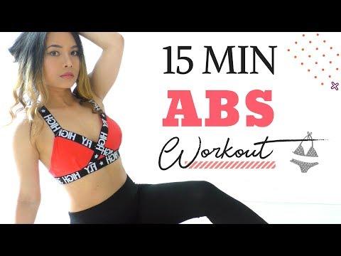 15 MIN ABS Workout » No Equipment   Slim Waist, Lose Belly Fat Fast   Bikini Body Workout #4