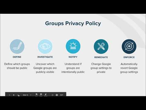 How to Automate Policy Enforcement: Google Groups Privacy Settings