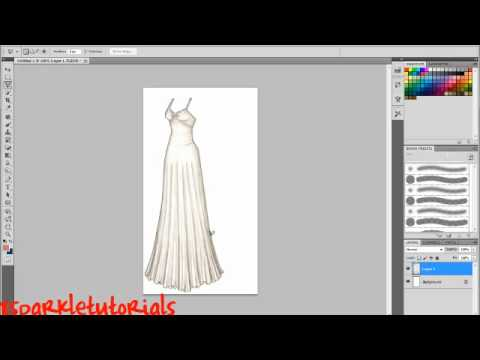 How to change a dress colour using Photoshop CS5