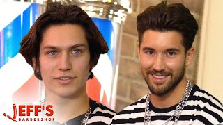 TikTok Star Lil Huddy Confronted During Haircut   Jeff's Barbershop
